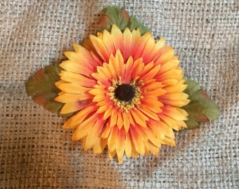Autumn Gerber Daisy Hair Flower