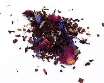 Honeybush Tranquility Tea (Caffeine Free) - All Natural Honeybush Tea - Rooibos Tea - Loose Leaf Tea - Rose - Handblended Tea - Herbalist