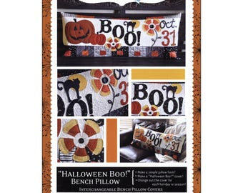 Halloween Boo! Bench Pillow - Pattern - by Kimberbell - Interchangeable Covers and Bench Pillow - C