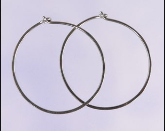Niobium hoop earrings: Medium KISS