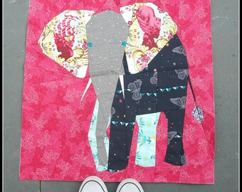 Elephant- a 24 Inch Paper Pieced Pattern