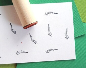 Ladyfern Rubber Stamp