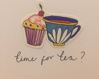 CARD: time for tea