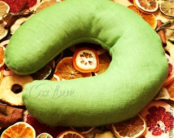 Green Aromatherapy Heated Neck Pillow (Microwavable) + Free Shipping