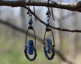 Rustic Blue Kyanite Earrings