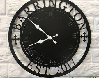 Personalized Metal Clock - Housewarming gift- Wedding gift - Wall decor - Personalized Gift - Personalized Metal Sign - Home Decor