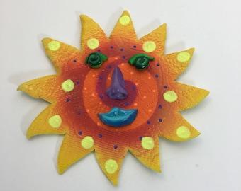 Ceramic Sun Face-Sunshine Face- Sun- Wall Art-Ceramic Sun-wall decor