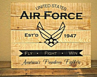 Air Force Pallet Sign