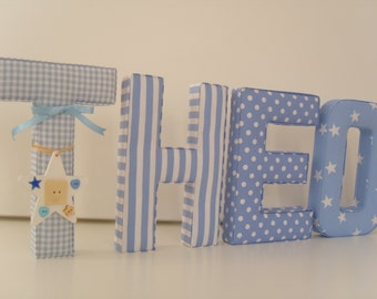 BEAUTIFUL FABRIC LETTERS