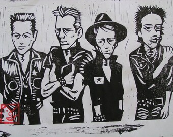 the CLASH hanga an original print