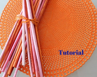 Macrame placemat etsy crochet placemat pattern pattern table decor istant download tutorial for handmade creations and home decor do solutioingenieria Images