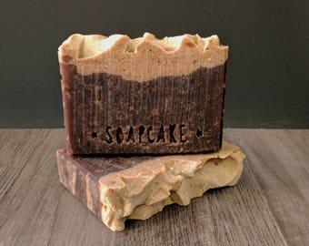 Oatmeal Stout Soap / Beer Soap / Handmade Cold Process Soap / SOAPCAKE