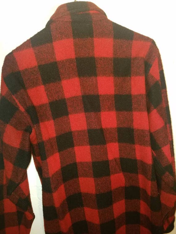 vintage red wool sportland shirt