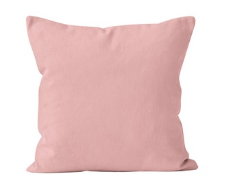 Blush Pink Pillow Cover, Neutral Pink Pillow Cover, Light Blush Pink Toss Pillow Cover Cushion Cover, Pink Throw Pillow Cover 18x18 _M