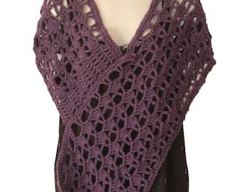 Crochet Cover Up, Bridal Poncho, Spring Poncho, Wedding Poncho, Shoulder Shawl, Womens Poncho, Purple Poncho, Shoulder Cape, Crochet Spring