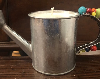 1.3lb Beaded Watering-Can Citronella Candle
