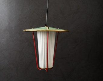 Hanging lamp 50s, Flurlampe mint, lantern, pendant lamp