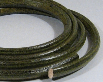 Regaliz Licorice Leather - Distressed Green - R15 - Choose Your Length