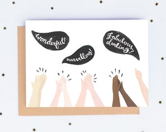 Clapping Hands Congratulations Card