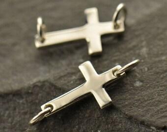 Sterling Silver, Tiny Cross, Cross Link, Tiny Cross Link, Silver Cross Link, Silver Cross Charm, Charm Link, Cross Charm Link, Silver Cross