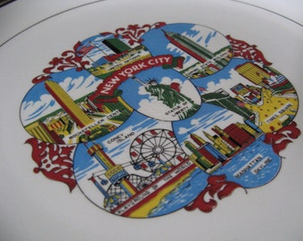 Vintage Ironstone New York City Souvenir Plate