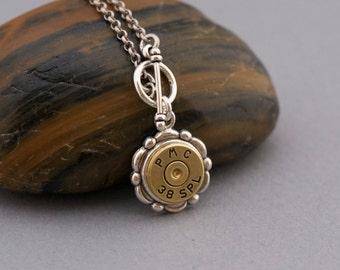 Choice 38 Special Bullet Necklaces-Winchester 38 Spl Necklace-Federal 38 Spl,RP 38 Spl Necklace-Hornady 38 Spl Necklace,WW 38 Spl,PMC 38 Spl