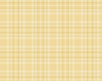 """End of Bolt 1 yard 13"""" of Buggy Barn Yarn Dye Yellow Woven Plaid for Henry Glass"""