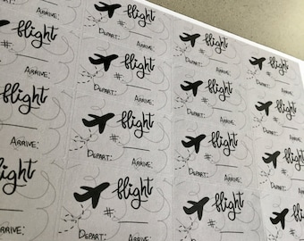 Flight Trackers (16 Planner Stickers)