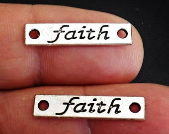 13 Pcs  FAITH CONNECTOR  Charm  Jewelry Findings  /j2