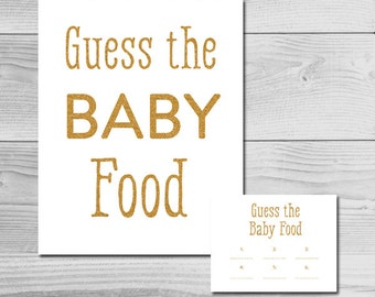 Guess The Baby Food Scorecard