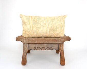 Mudcloth Lumbar Pillow Cover, Faded Mudcloth, African Mudcloth, Bogolan Mudcloth, Boho Decor, Boho Pillow, Farmhouse Decor, Rustic Modern
