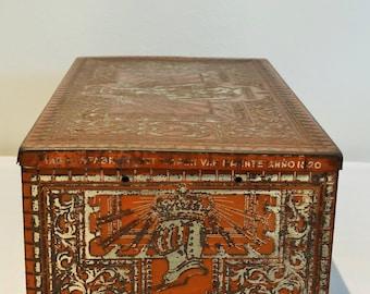Decorative old Dutch tobacco tin