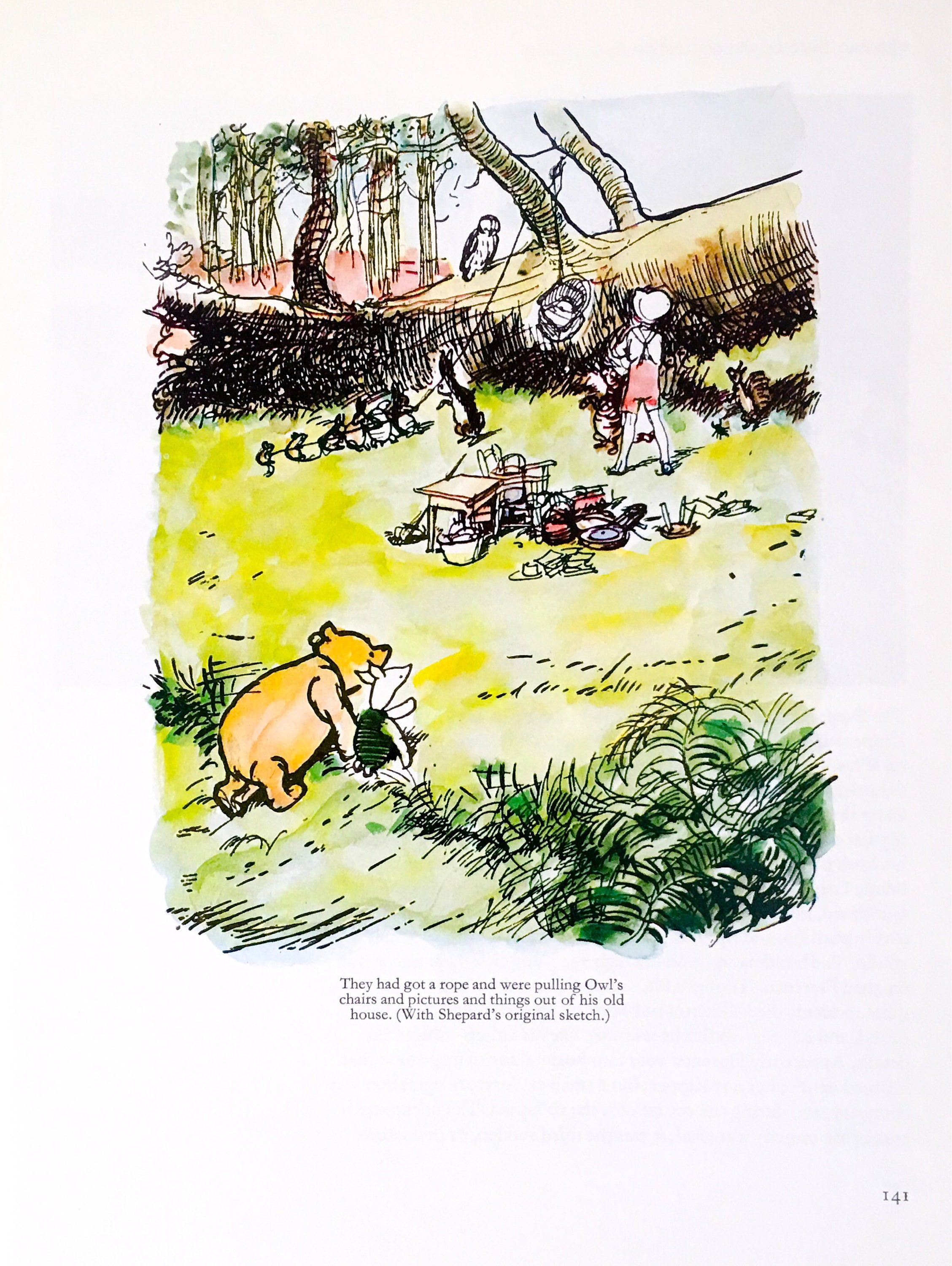 Winnie The Pooh / Book Illustration / 1979 / By E H Shepard ...