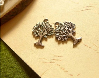 Antique Silver tone/Antique Bronze  Metal Lucky  Tree of Life Pendant Charm Finding,Handbags Clothing Accessories, 22mm