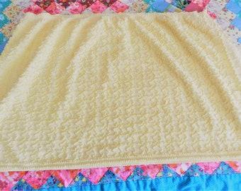 Yellow  Cabin Craft Fabric,  Vintage Fabric, Squiggle Line Chenille Fabric, Yellow Chenille Fabric, Yellow  Fabric