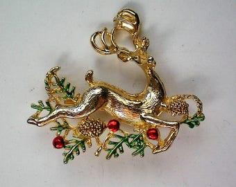 Sassy Reindeer Pin for Christmas / Hanukkah Holidays - 5721