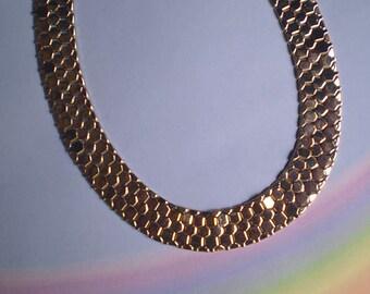 Vintage 50s Reinad Honeycomb Choker Necklace