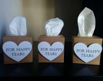 3D Happy Tears Wedding Favours Favors tissues