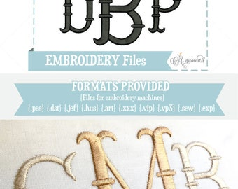 2 & 3 inch- French Fishtail Embroidery Font/Alphabet for Machines | Instant Digital Download | Fishtail Alphabet