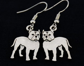 Pit Bull Earrings, Pit Bull Jewelry, Pit Bull Owner Gift, Gift for Pit Bull Lover, Pit Bull Dog Charm Earrings, Gift for Pit Bull Owner