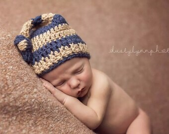 Crochet Pattern Top Knot Hat, newborn hat, baby shower gift, coming home (Newborn, 3-6 Month, 6-12 Month)