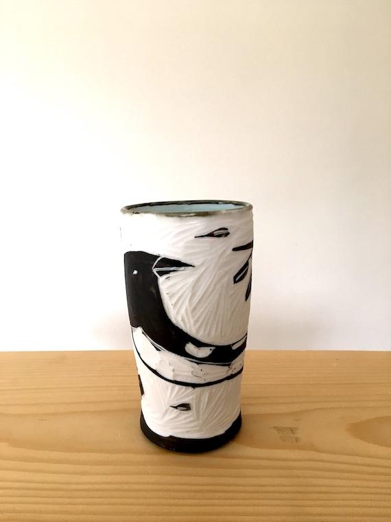 Porcelain Hand Carved Tumbler