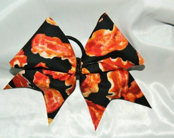 Bacon Cheer Bow Hair Bow