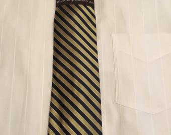 Black Brown 100% Silk Mens Tie