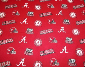 "University  of  ALABAMA  All Sport fabric  "" TIDE  "" New  Style - 1  YARD  Piece - 100% Cotton  New Design"