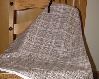 Black & White Plaid Nursing Cape / Cover