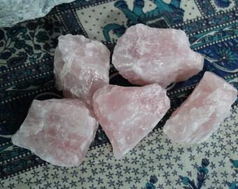 SALE - Dreamy large raw rose quartz chunk