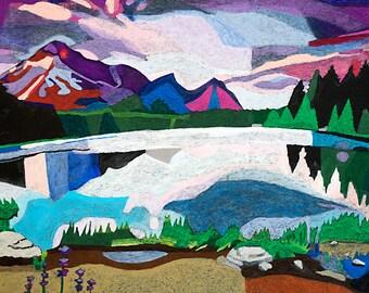 Violet Landscape - Print