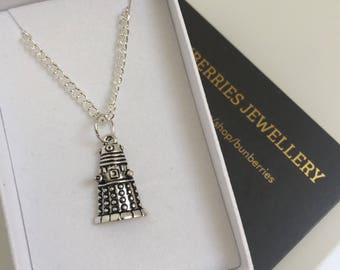 Dalek Pendant - Doctor Who Inspired Jewellery