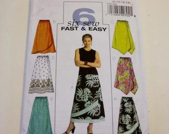 Butterick B4803: Very Easy Misses'/Misses' Petite Skirt Sizes 8,10,12,14 UNCUT